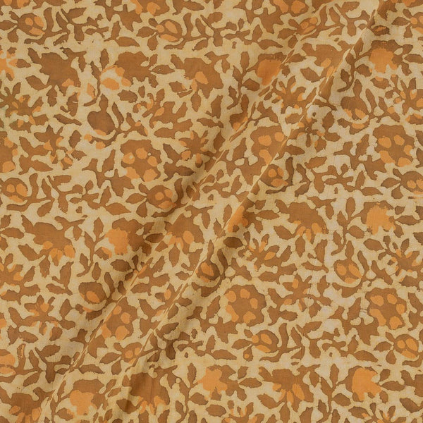 Soft Cotton Dabu Orange Colour Batik Effect Fabric