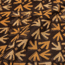 Brown Colour Geometric Print Chanderi Feel Viscose Fabric 40 inches Width