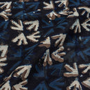 Indigo Colour Geometric Print Chanderi Feel Viscose Fabric 40 inches Width
