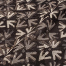 Black Colour Geometric Print Chanderi Feel Viscose Fabric 40 inches Width