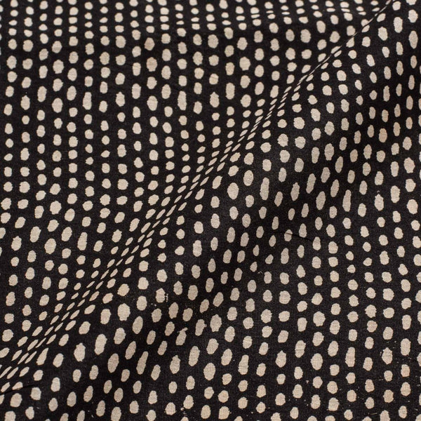 Black  Colour Geometric Print Chanderi Feel Viscose Fabric