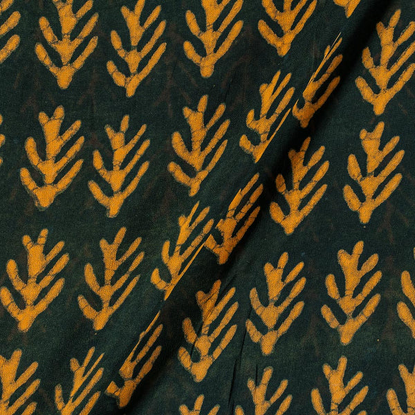 Viscose Georgette Charcoal Colour 41 Inches Width Dabu Hand Block Leaves Print  Fabric