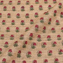 Beige Colour Floral Print Nebs Cotton Fabric
