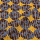 Yellow Colour Discharge Print 42 inches Width Cotton Fabric