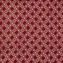 Plum Colour Gold Discharge Print 42 inches Width Rayon Fabric