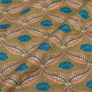 Olive Colour Discharge Print 42 inches Width Cotton Satin Fabric
