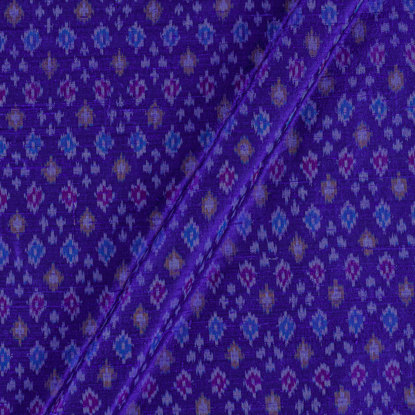 Raw Silk [Dupion] Ikat Violet Colour Fabric