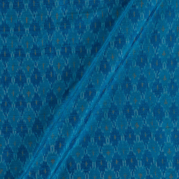Raw Silk [Dupion] Ikat Sky Blue Colour Fabric