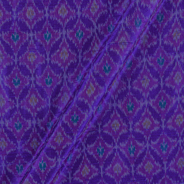 Raw Silk [Dupion] Ikat Deep Blue Colour Fabric