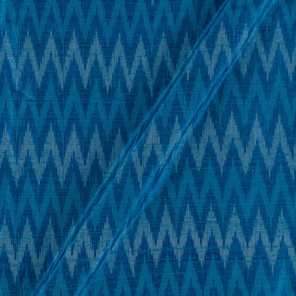 Raw Silk [Dupion] Ikat Blue Colour Fabric