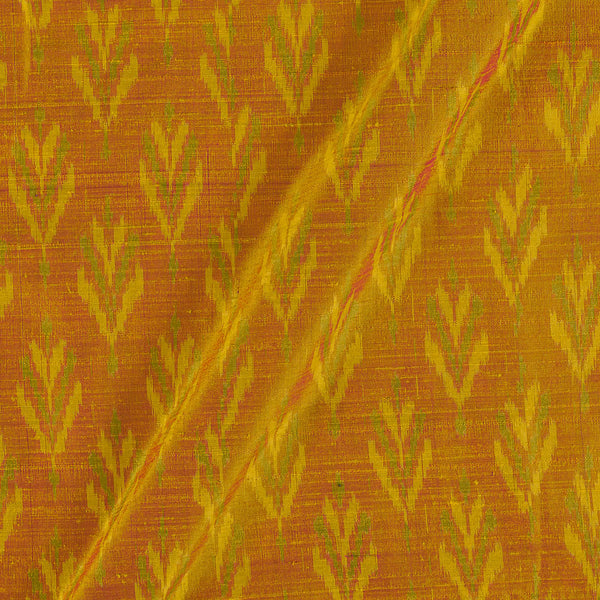 Raw Silk [Dupion] Ikat Orange To Brown Two Tone Fabric