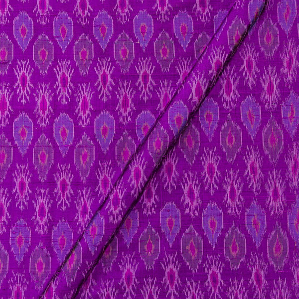 Raw Silk [Dupion] Ikat Deep Purple Colour Fabric