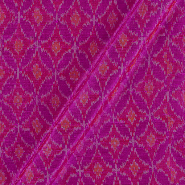 Raw Silk [Dupion] Ikat Crimson Pink Colour Fabric