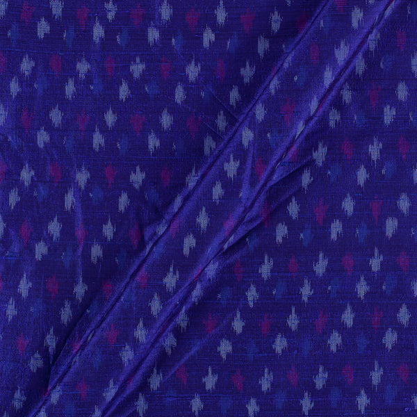 Raw Silk [Dupion] Ikat Royal Blue Colour Fabric