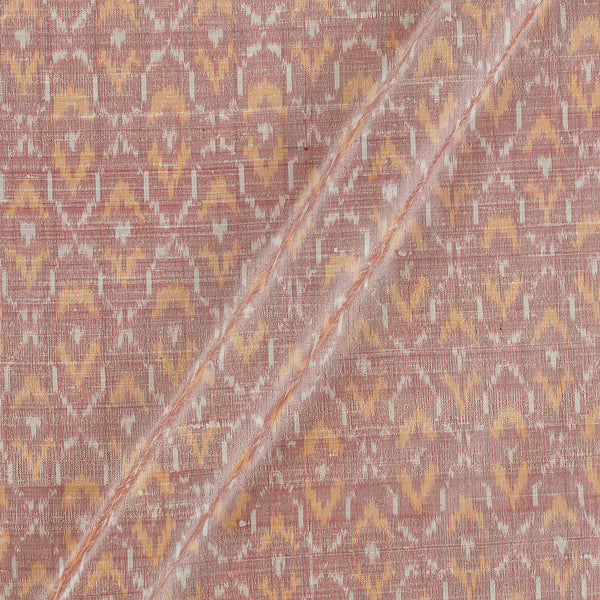 Raw Silk [Dupion] Ikat Beige Colour Fabric
