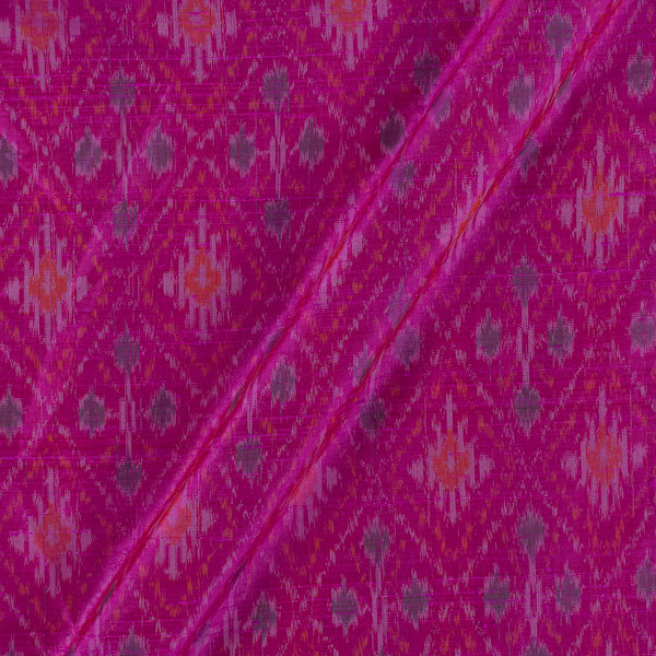 Raw Silk [Dupion] Ikat Hot Pink Colour Fabric