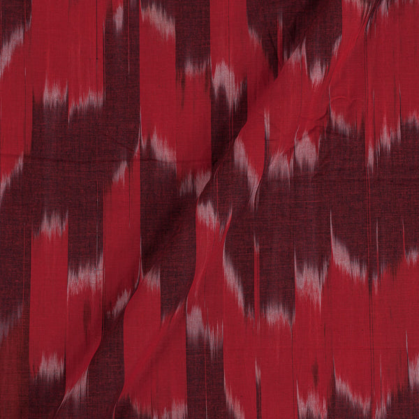 Cotton Tie Dye Ikat Pattern Red Colour Katra Fabric