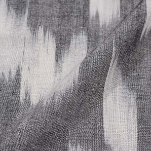 Cotton Tie Dye Ikat Pattern Grey Colour 42 inches Width Katra Fabric