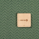 Mal Cotton Green Color Chevron Discharge Print Fabric