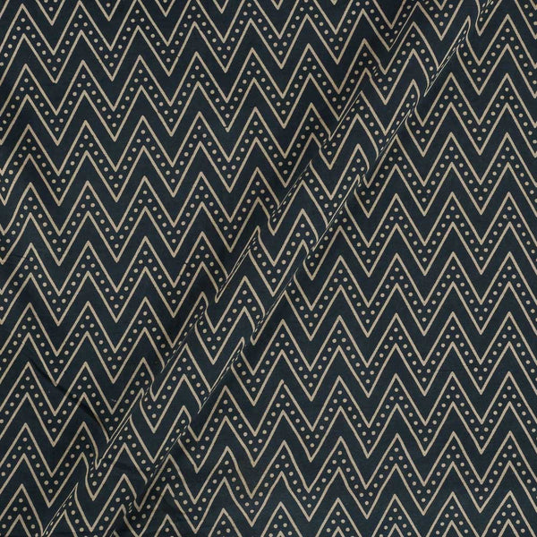 Cotton Grey Colour Chevron Dusty Print Gamathi Fabric