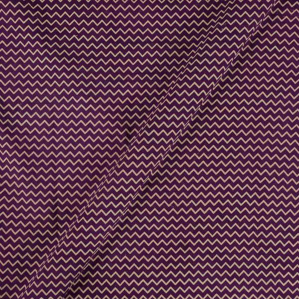 Cotton Purple Colour Chevron Dusty Print Gamathi Fabric