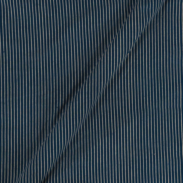Cotton Blue Colour Stripes  Dusty Print Gamathi Fabric
