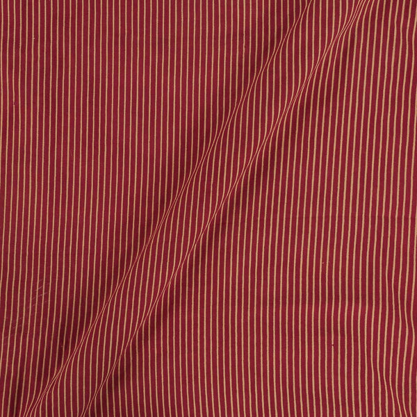 Cotton Maroon Colour Stripes  Dusty Print Gamathi Fabric