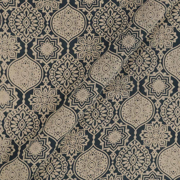 Cotton Grey Colour Ethnic  Dusty Print Gamathi Fabric