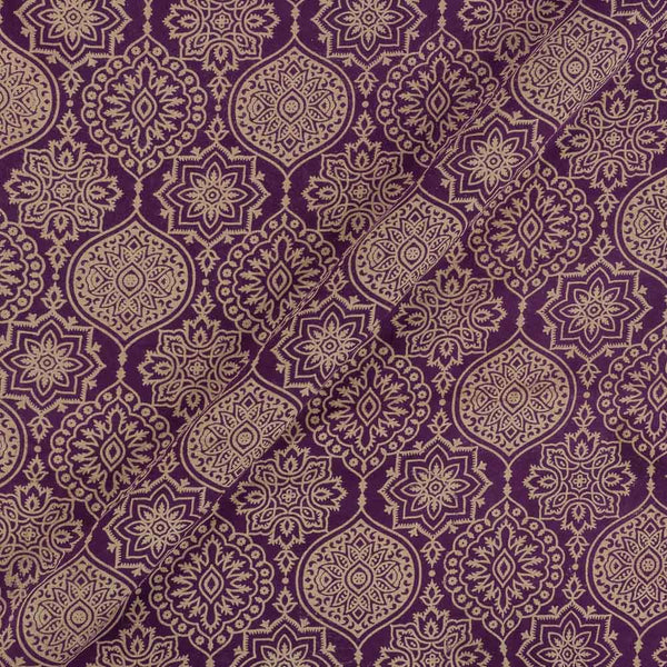 Cotton Purple Colour Ethnic  Dusty Print Gamathi Fabric