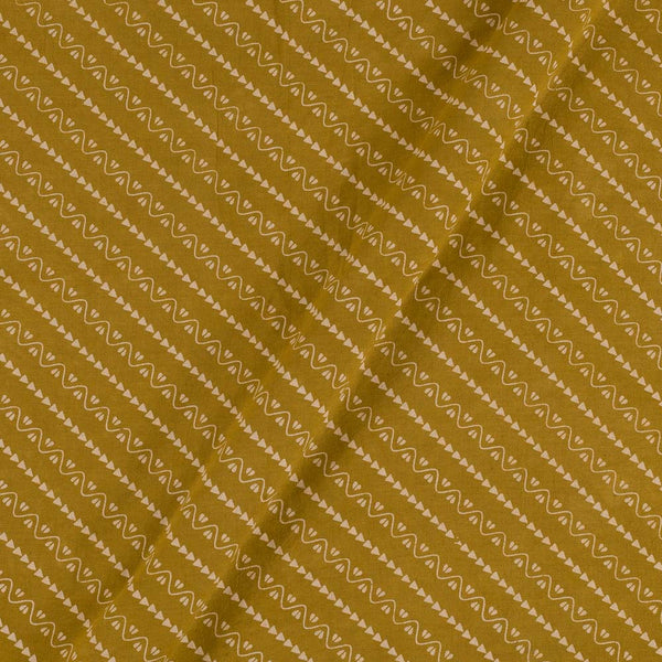 Cotton Mustard Colour Border All OVer Dusty Print Gamathi Fabric