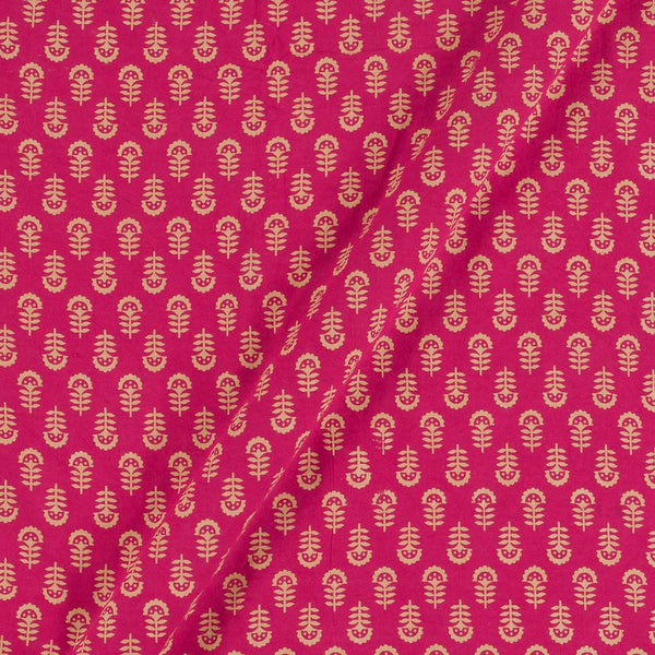 Cotton Hot Pink Colour Floral Dusty Print Gamathi Fabric