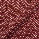 Cotton Plum Colour Chevron Dusty Print Gamathi Fabric