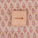 60 x 60 Cotton Beige Colour Leaves Hand Block Print 45 Inches Width Fabric