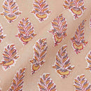 60 x 60 Cotton Leaves Hand Block Print 45 Inches Width Fabric