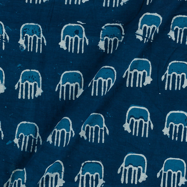 Cotton Indigo Colour Quirky Print Fabric