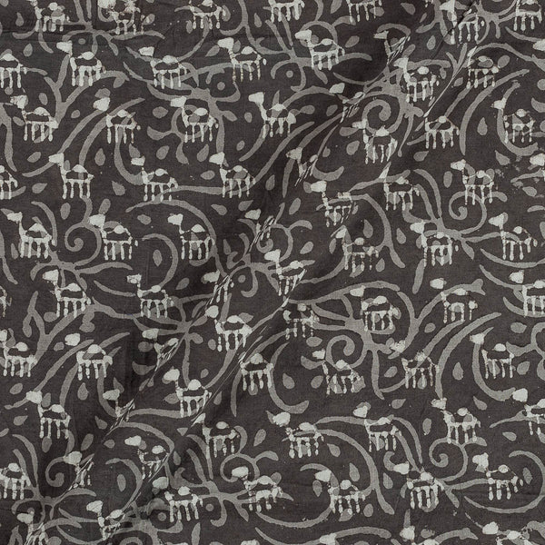 Cotton Cedar Colour Quirky Print Fabric