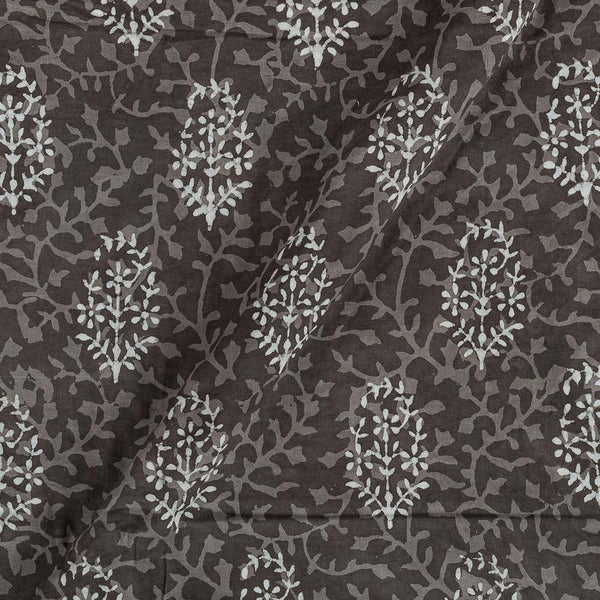 Cotton Cedar Colour Floral Print Fabric