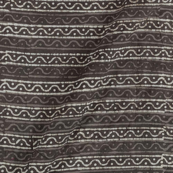 Cotton Cedar Colour All Over Border Print Fabric