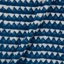 Cotton Indigo Colour  Print Fabric