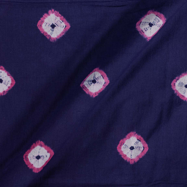Cotton Shibori Violet Colour 43 inches Width Geometric Pattern Fabric