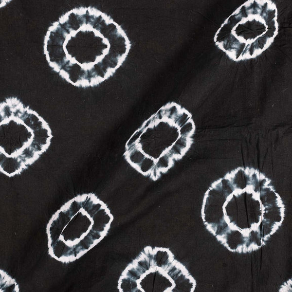 Cotton Shibori Black Colour 43 inches Width Geometric Pattern Fabric