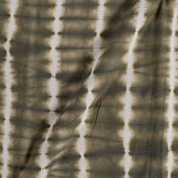 Cotton Shibori Slate Green Colour 43 inches Width Abstract Pattern Fabric