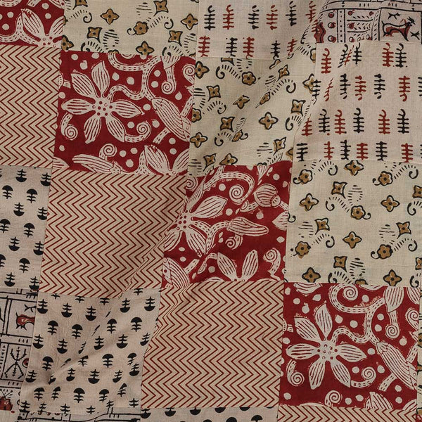Upscaled Gamathi Cotton Off White Colour 41 Inches Width Applique Fabric