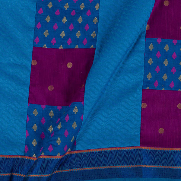 Chanderi Multi Applique 43 Inches Width One Side Border Fabric