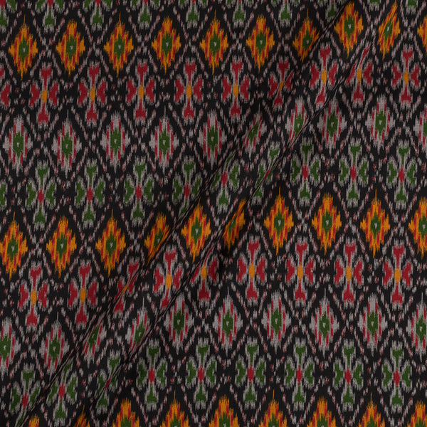 Flex Cotton Black Colour Ethnic Geometric Print 42 Inches Width Fabric
