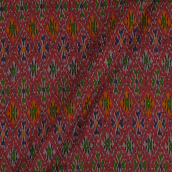 Flex Cotton Maroon Colour Ethnic Geometric Print 42 Inches Width Fabric