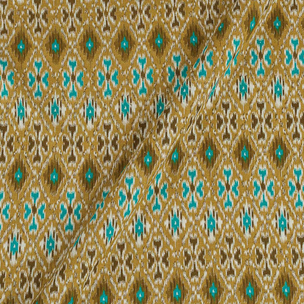 Flex Cotton Olive Colour Ethnic Geometric Print 42 Inches Width Fabric