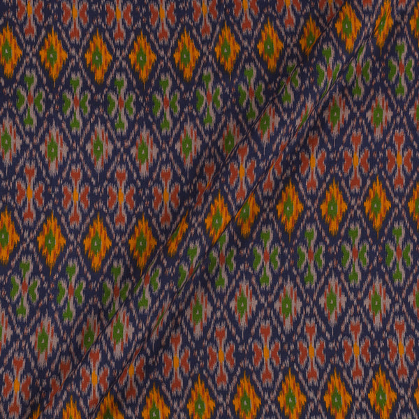 Flex Cotton Navy Blue Colour Ethnic Geometric Print 42 Inches Width Fabric