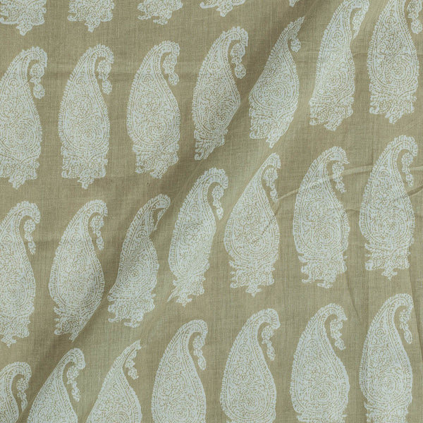Mal Type Cotton Cocktail Olive Colour 43 Inches Width Paisley Print Fabric