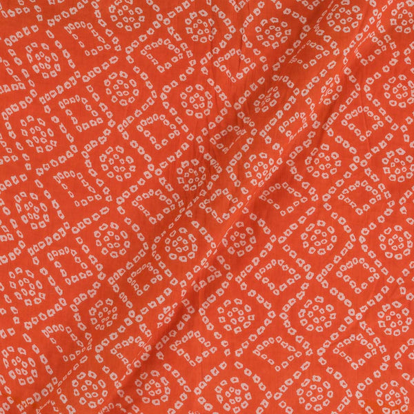 Mal Type Cotton Orange Colour 43 Inches Width Bandhej Print Fabric